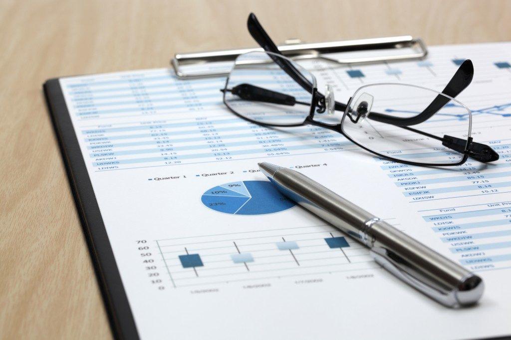 Stock market graphs analysis report