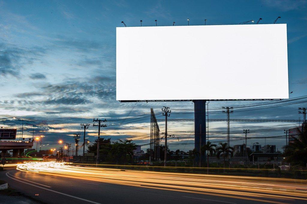 billboard along the highway