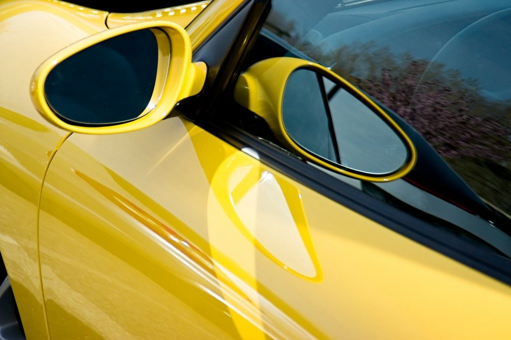 side mirror of a car