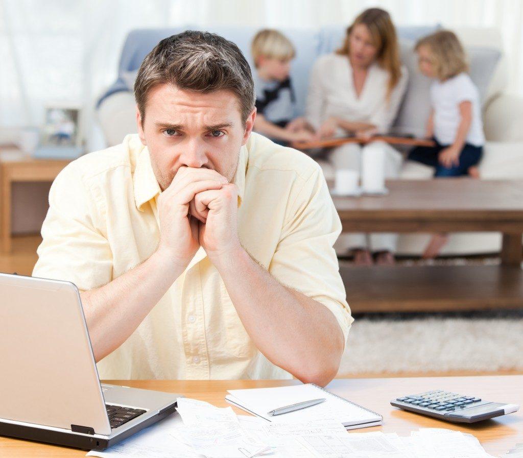family stuck in debt