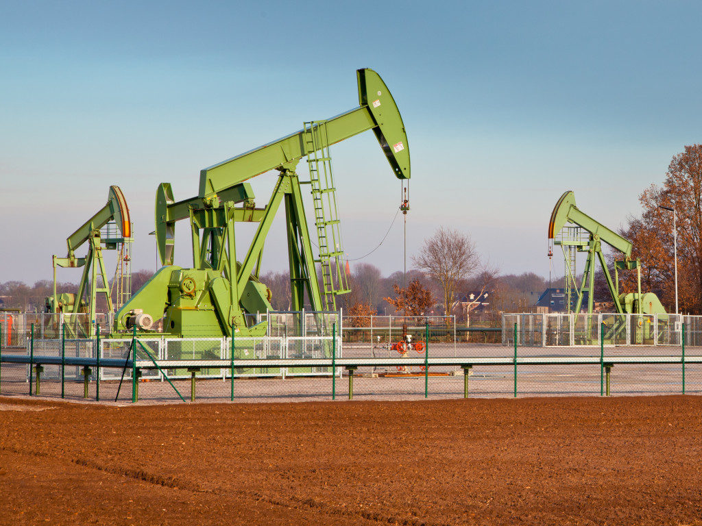 European Oil Pump Jack in Germany on a Sunny Day