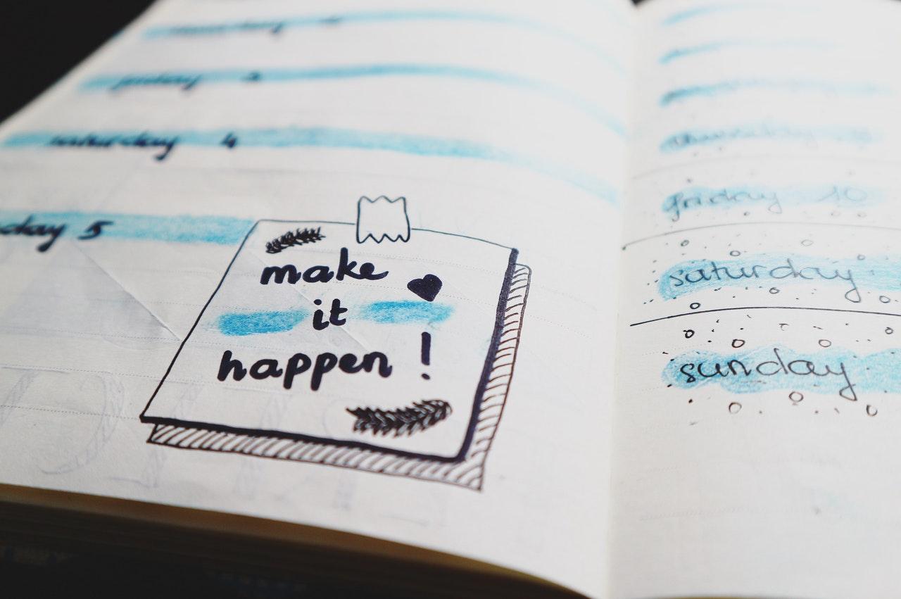 plan on a notebook