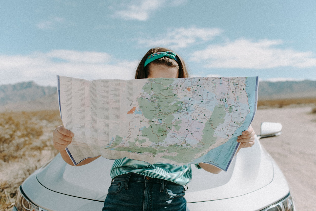 navigating using a map
